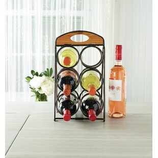 6 Bottle Tabletop Wine Rack by Gourmet Ba..