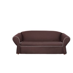 Tailored Box Cushion Sofa Slipcover by Sure ..