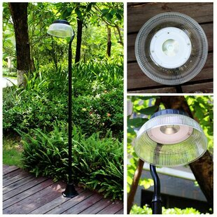 Affordable Adler Solar Power Motion 1-Light 81 Post Light By Winston Porter