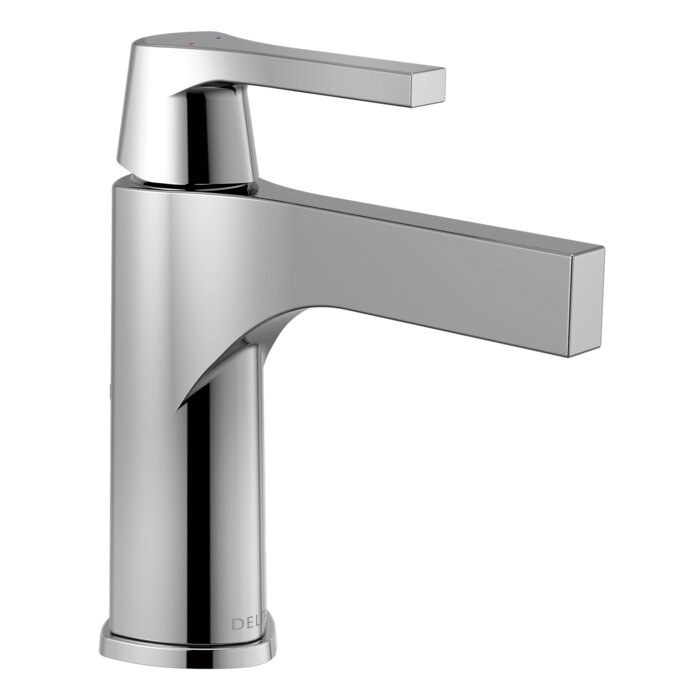 sink faucet monoblock single high american portsmouth bathroom handle arc faucets delta standard polished hole
