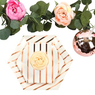 Foil Paper Desert Party Plate (Set of 36)