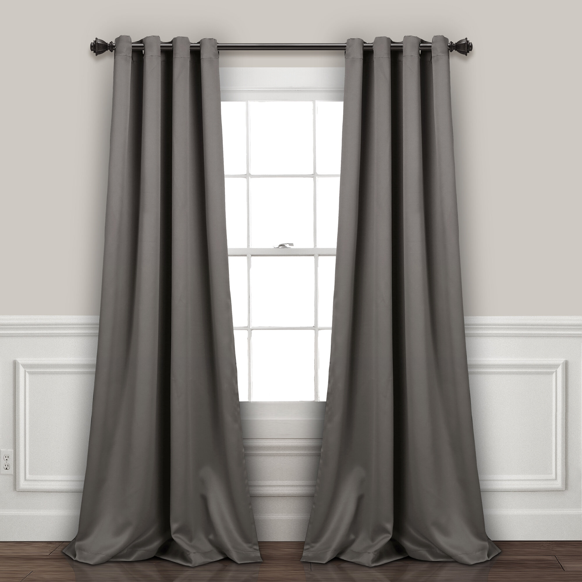 Gray And Silver Curtains Drapes You Ll Love In 2020 Wayfair
