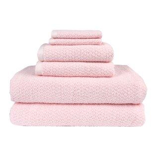 Diamond Jacquard 6 Piece Towel Set