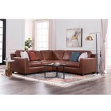 Biaver Leather 95 Right Hand Facing Sectional by Latitude Run