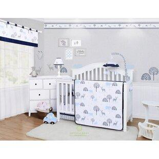 Best Deals Albaugh Woodland Forest Deer 6 Piece Crib Bedding Set ByHarriet Bee
