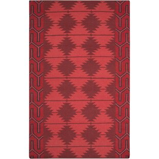 Shopping for Lewis Hand Woven Wool Burgundy/Red/Black Area Rug By Union Rustic