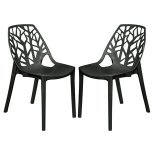 Kimonte Stacking Patio Dining Chair (Set of 2) by Ivy Bronx