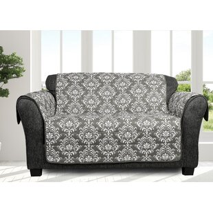 Ardie Box Cushion Loveseat Slipcover By Ophelia & Co.