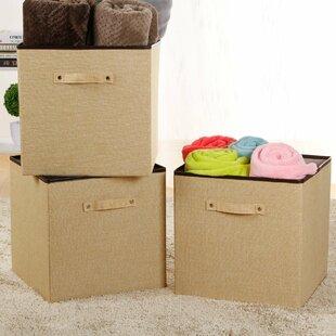 Affordable 36L Folding Fabric Storage Bin (Set of 3) ByLifewit