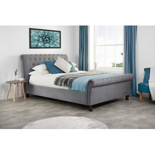 Addie Upholstered Sleigh Bed By Three Posts