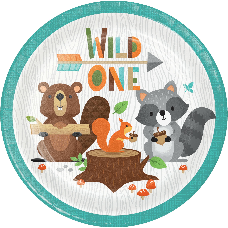 Creative Converting Wild One Woodland Paper Disposable Dessert Plate Wayfair