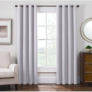 Solid Room Darkening Grommet Single Curtain Panel
