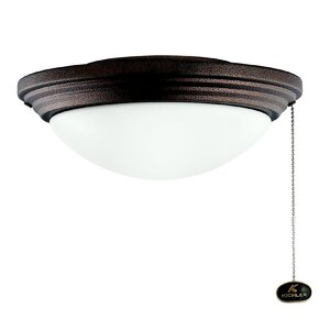 Wet 1-Light Bowl Ceiling Fan Light Kit