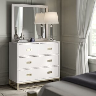 Inexpensive Tazewell 4 Drawer Dresser with Mirror ByGreyleigh