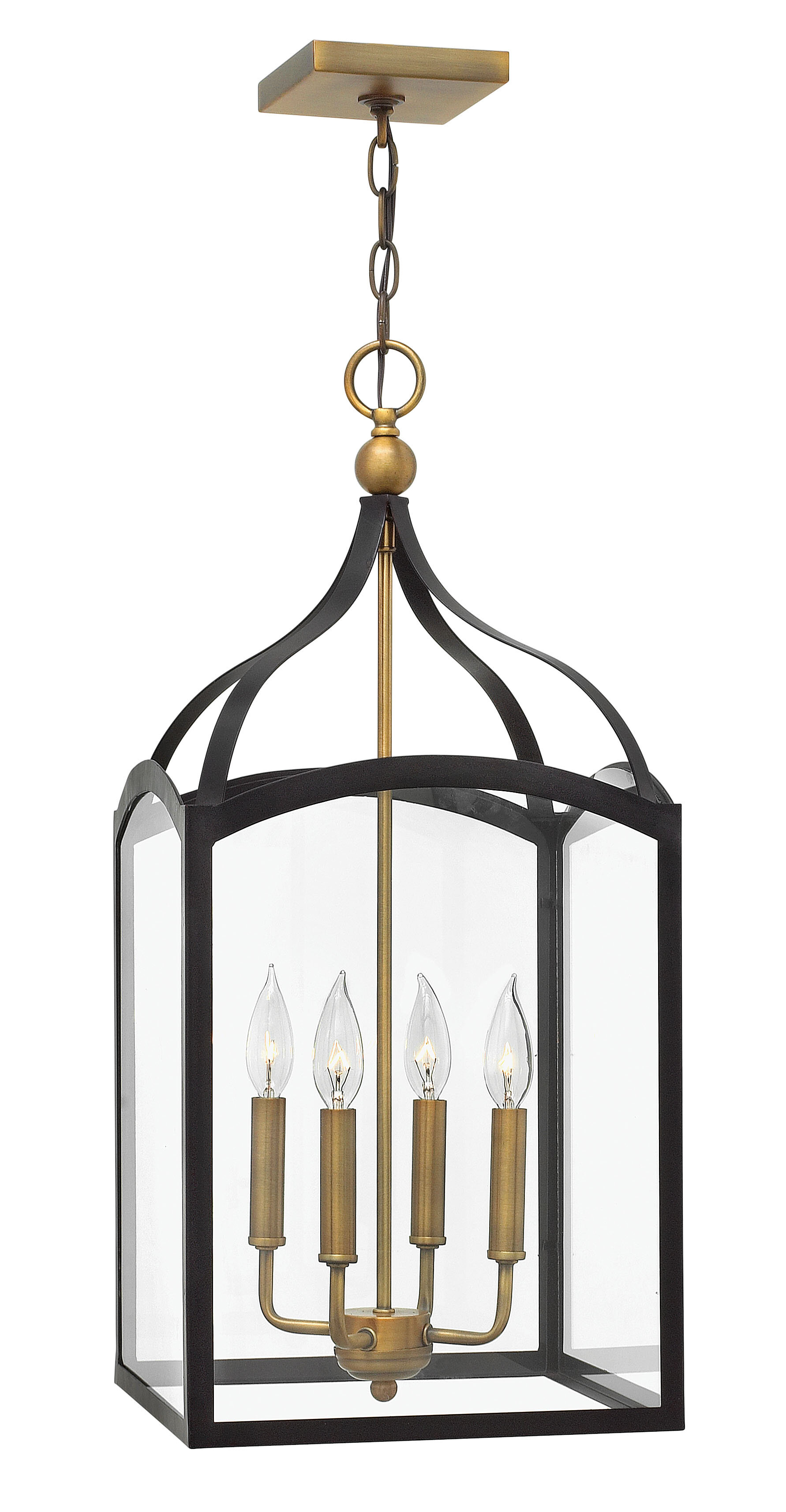 Gracie Oaks Jeremie 4 Light Lantern Rectangle Pendant Reviews Wayfair