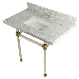Affordable Carrara Marble 36 Single Bathroom Vanity Set ByKingston Brass
