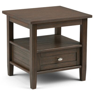 Alameda End Table with Storage Color: Farmhouse Brown by Alcott Hill
