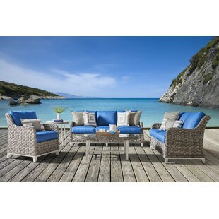 Cape Lookout Deep Seating Group with Cushions by South Sea Rattan