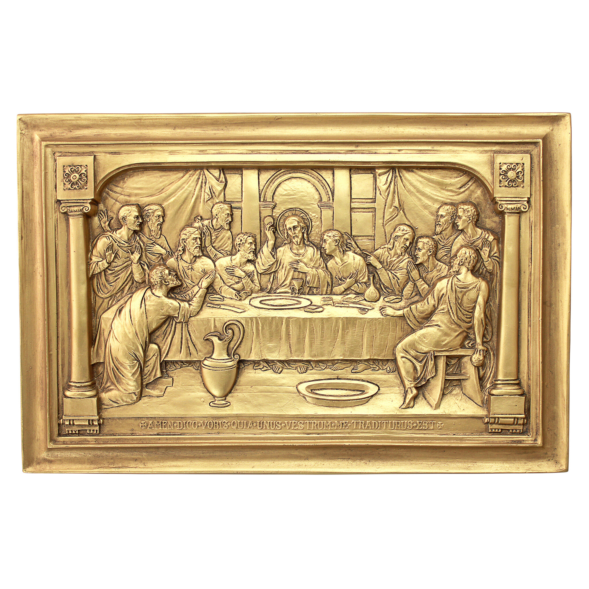 Design Toscano Jesus and the Apostles\' Last Supper Wall Décor | Wayfair
