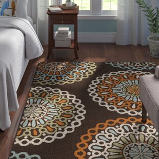 Centeno Brown/Orange Indoor/Outdoor Area Rug