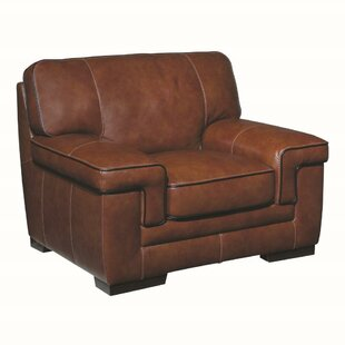 Grand Isle Leather Upholstered Armchair by Trent Austin Design