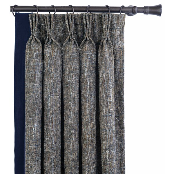 Eastern Accents Arthur Fabric Solid Room Darkening Pinch Pleat Single Curtain Panel Wayfair