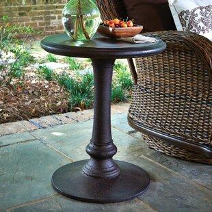 Moroccan Stone/Concrete Side Table by Peak Season Inc.