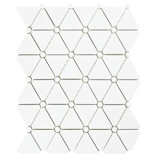 Esamo Glass Mosaic Tile in White