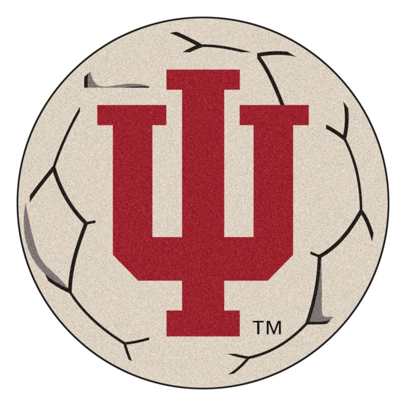 Fanmats Ncaa Indiana University Soccer 27 In X 27 In Non Slip Indoor Only Mat Wayfair