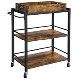 Shifflett Tray Top Kitchen Cart by Union Rustic