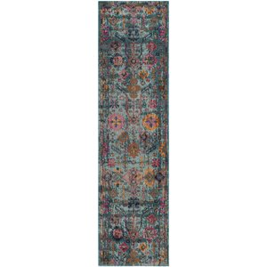 Manya Oriental Light Blue Area Rug