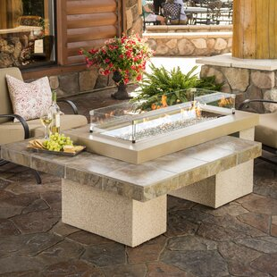 Uptown-K Crystal Concrete Propane/Natural Gas Fire Pit Table