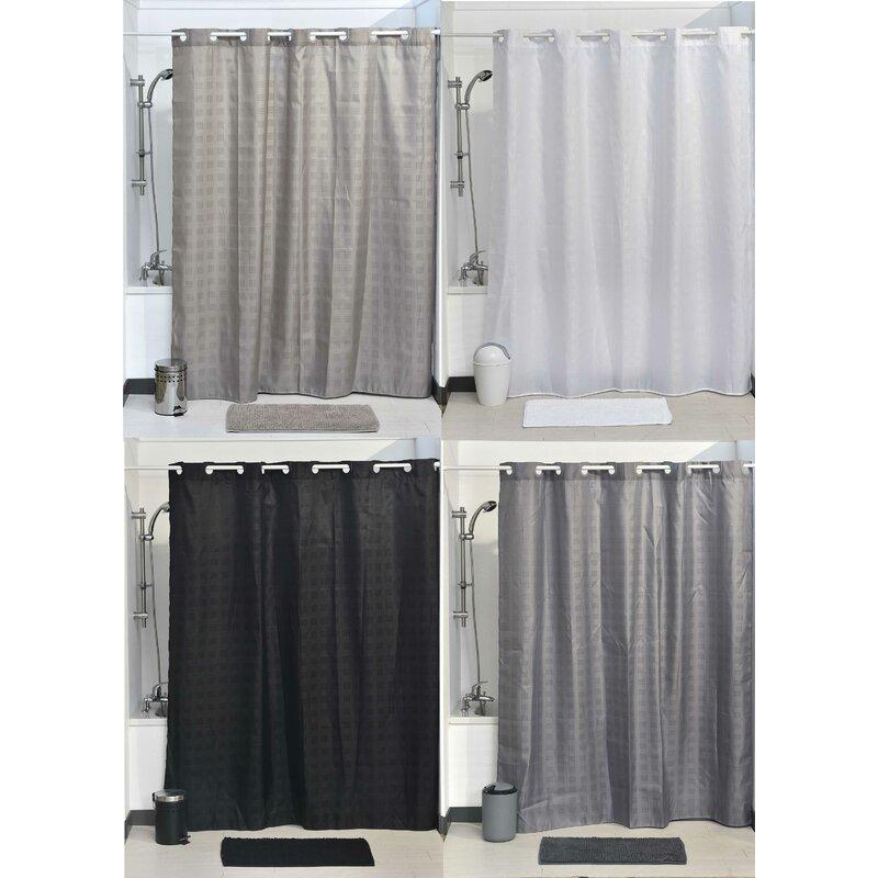 Evideco Hookless Shower Curtain