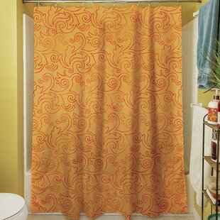 Zinnia Damask Single Shower Curtain