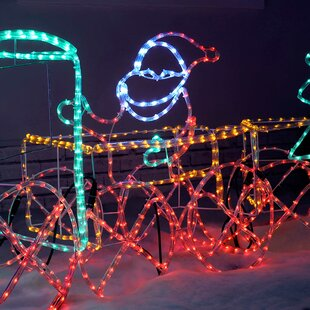 3D Animated Connectable Santa In Train Carriage LED Lighted Display By The Seasonal Aisle