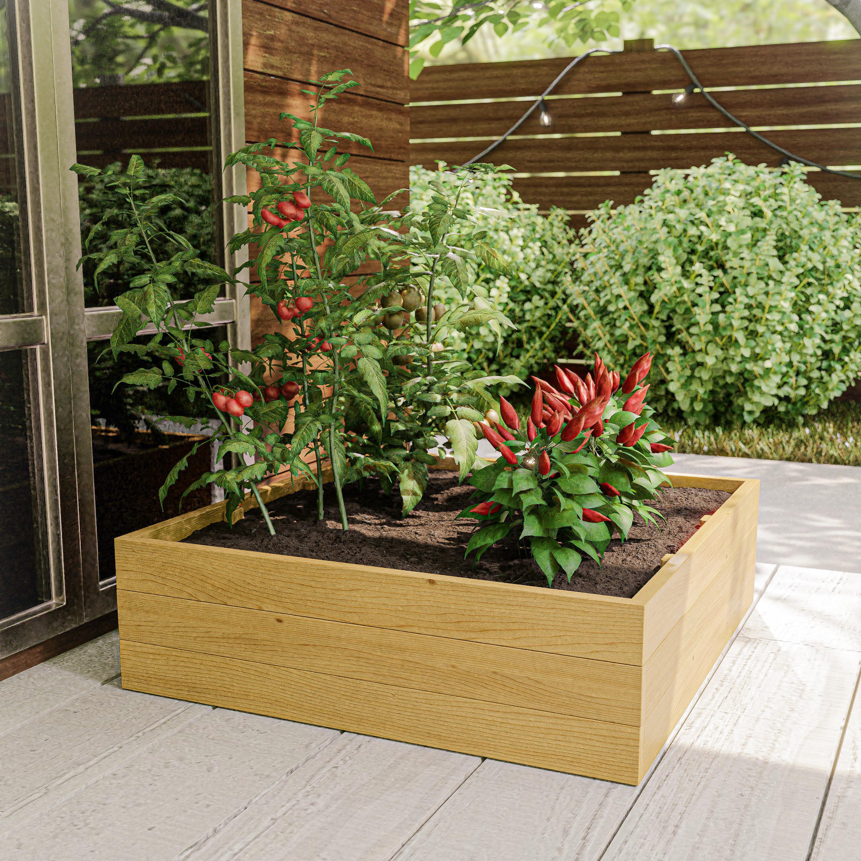 Foundry Select Beckman Cypress Wood Planter Box Wayfair