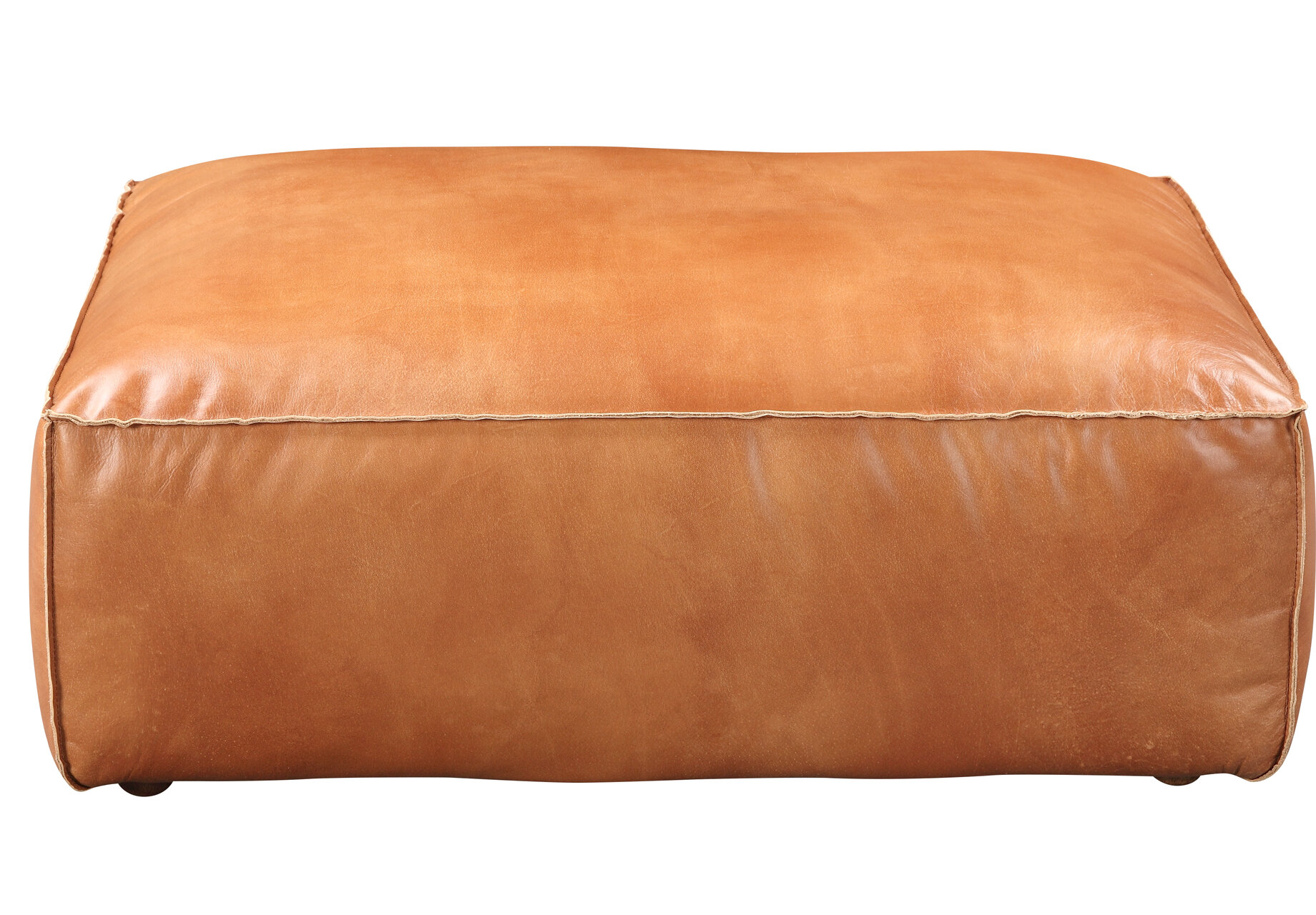 Leather Rectangle Ottomans Poufs You Ll Love In 2021 Wayfair