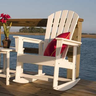 South Beach Plastic Rocking Adirondack Chair