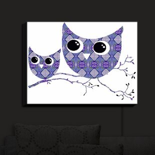 Reviews Owl Argyle Purple Blue' Print on Fabric By Bungalow Rose