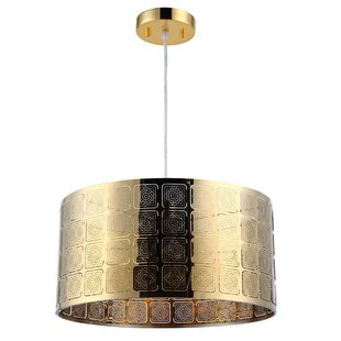 Wrought Studio Carrick Farmhouse 1-Light Drum Pendant