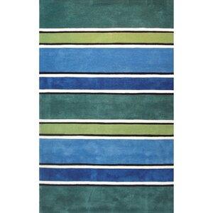 Beach Rug Tropic Multi Ocean Stripes Rug