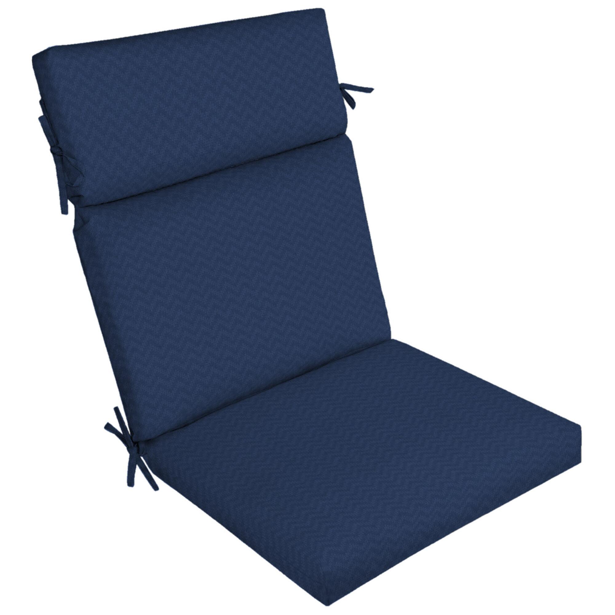 Leala High Back Outdoor Dining Chair Cushion