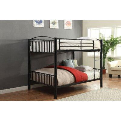 Agnes Metal Bunk Bed Harriet Bee Bed Frame Color: Black, Size: Full over Full
