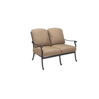 Canora Grey Aube Outdoor Aluminum Loveseat With Cushions Wayfair