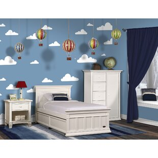 Great deal Napoli Twin Panel Bed with Bed Rail ByEvolur