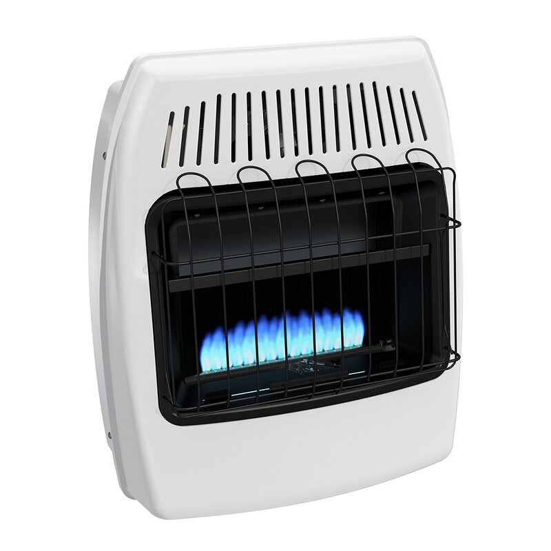 20,000 btu wall mounted natural gas manual vent-free heater