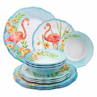Maron 12 Piece Melamine Dinnerware Set, Service for 4
