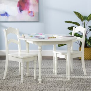 Anton Kids 3 Piece Table And Chair Set