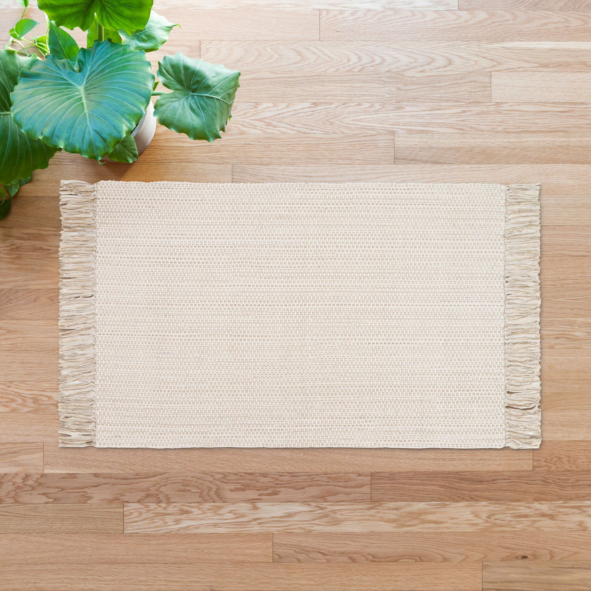 Highland Dunes Strawn Hand Knotted Cotton Ivory Area Rug Reviews Wayfair