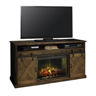 Reviews Pullman TV Stand for TVs up to 65 with Fireplace By Loon Peak